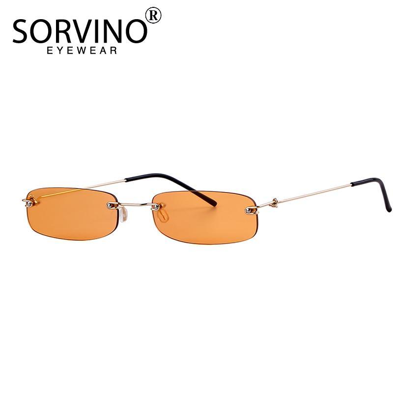Naranja Compre Sorvino Sol Rectangulares Sin Montura Gafas De nO80vmNyw