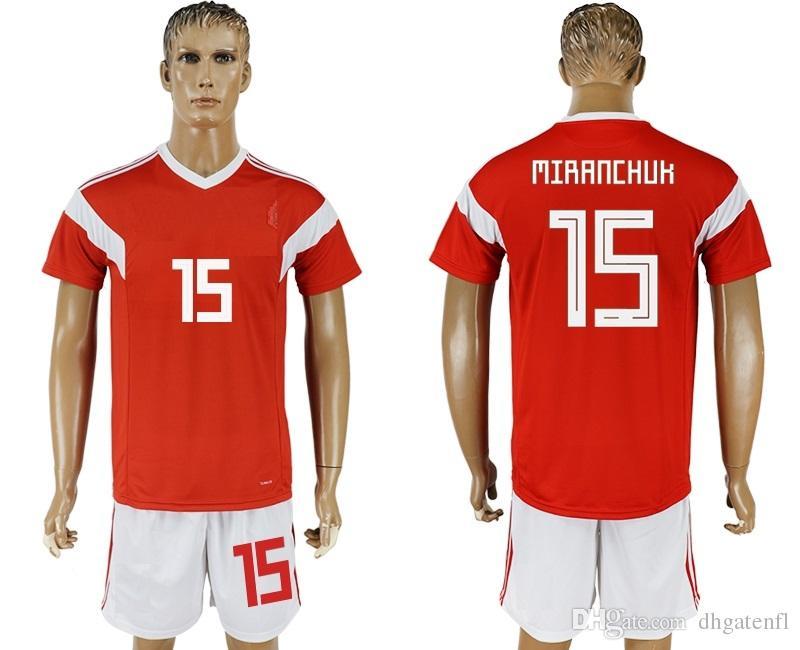 7dcfb53a6 Soccer Jersey 2018 19 World Cup Russia MIRANCHUK 15 Camisetas De ...