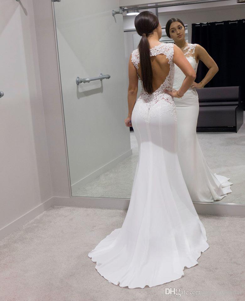 Lace Simple Mermaid Informal Wedding Dresses 2018