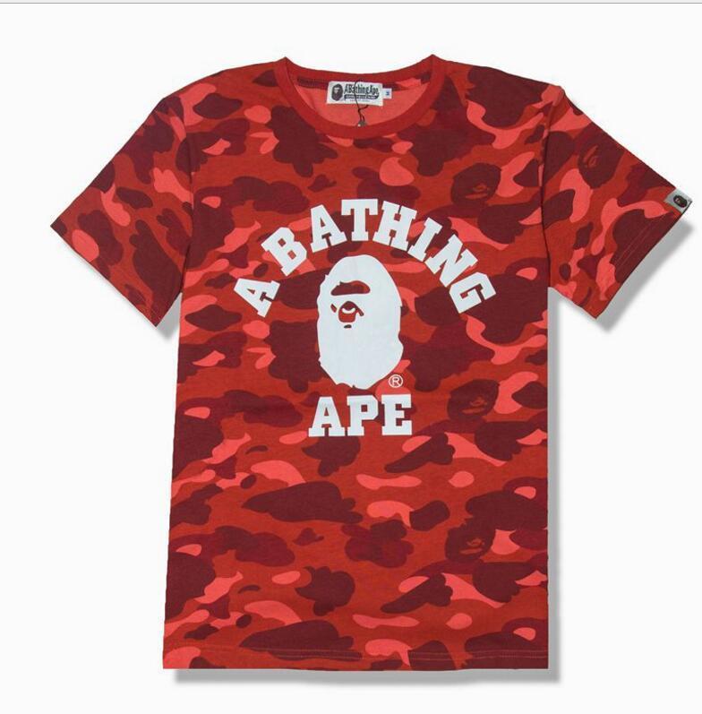 c23d826d1b Hot Sale Shark Camo Red Stitching T Shirt Men Women Personality Cotton  Cotton Printed Short Sleeved T Shirts T Shirt Online T Shirt Designer From  Blackwhitt ...
