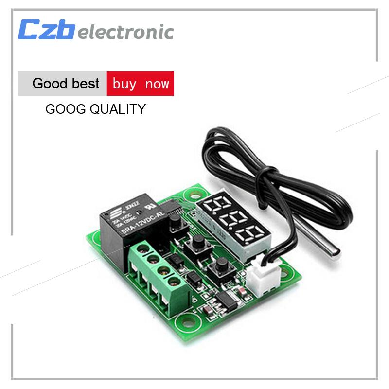 W1209 Digital LED DC 12V Heat Cool Temp Thermostat Temperature Control  Switch Module On/Off Controller Board + NTC Sensor