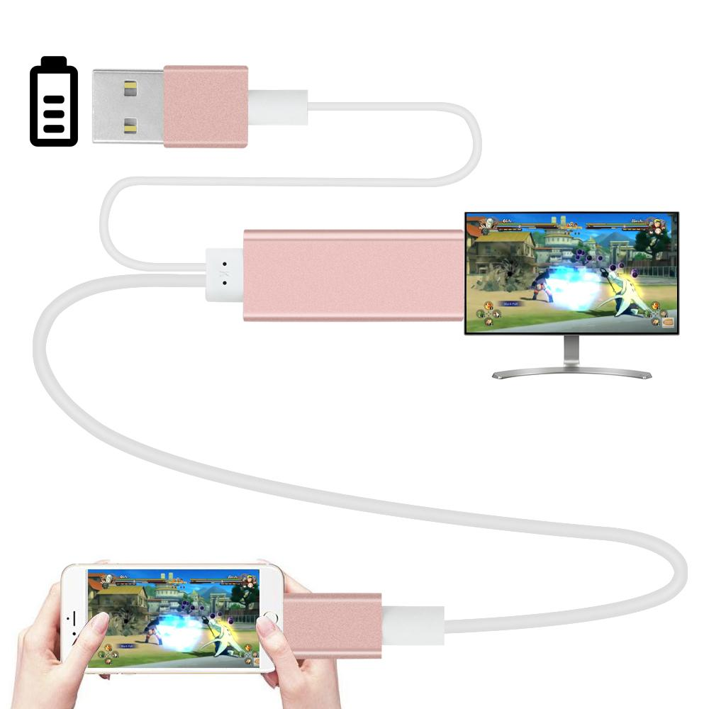 sports shoes b3d27 c4779 2m HDMI HDTV Adapter AV USB Cable for lightning USB to HDMI HD1080P For  iPhone 5 5S 6 6plus 6S 7 7plus Support TV function