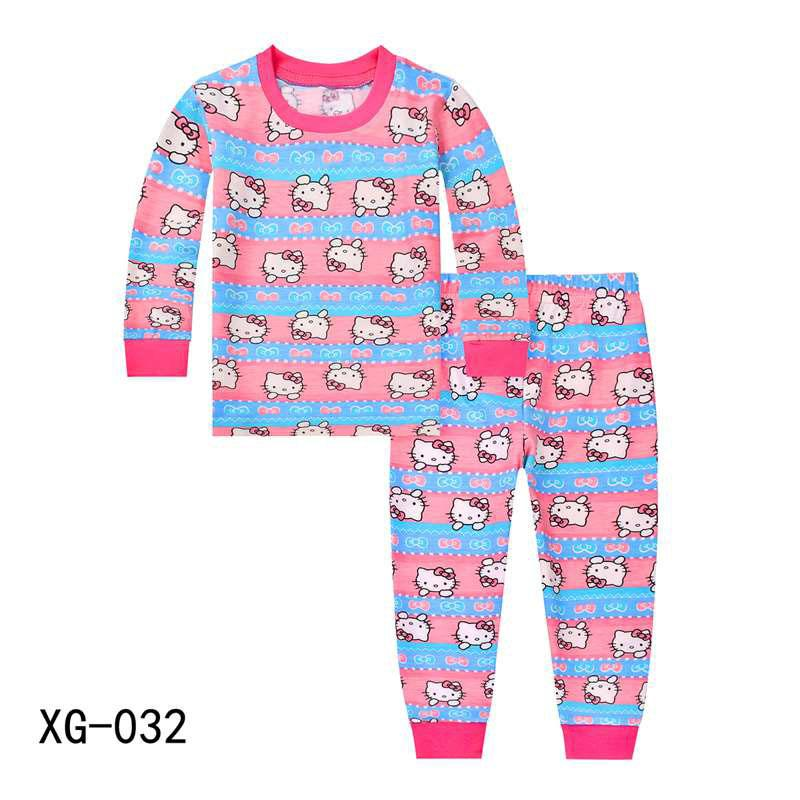 Wholesale Girls Pink Hello Kitty Pyjamas Sets 2018 Kids Cartoon Pijamas Children  Spring Clothes Sets For 2 7Y XG 032 Kids Matching Pajamas Christmas Cheap  ... 546623125