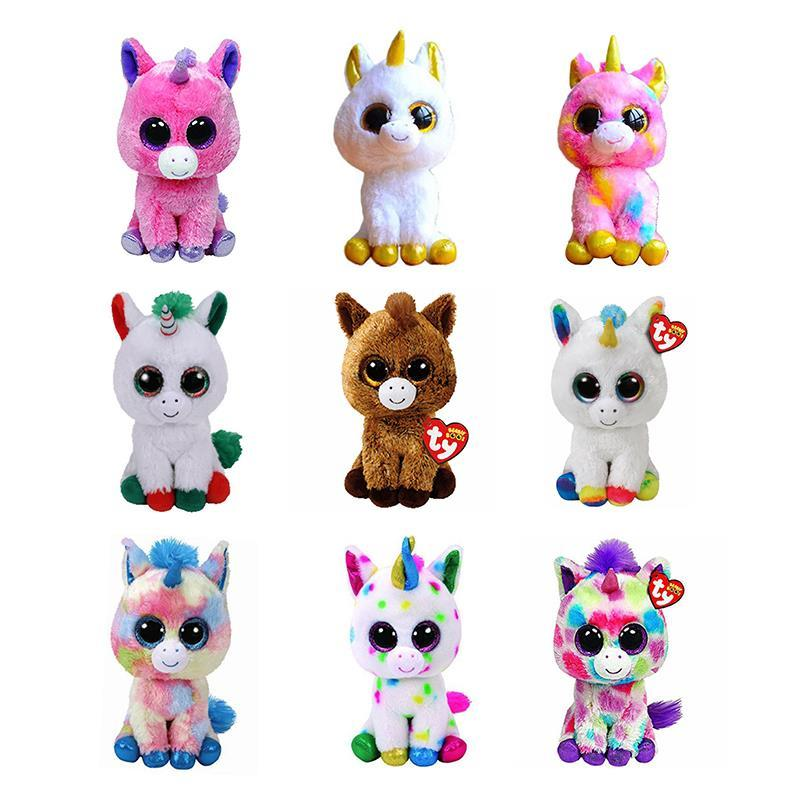 03868ea8c90 2019 6 TY Beanie Boos 15cm Big Eyes Pegasus Pixy Fantasia Candy Cane Magic  Harmonie Plush Stuffed Animal Toy Christmas Gift From Benedicty