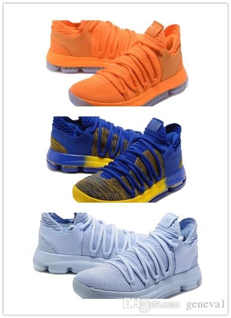 the latest 253f5 a80a8 2018 new Correct KD X 10 Men Basketball Shoes Warriors Home Wolf Durant 10s  Training Sports shoes Sneakers US 7-12