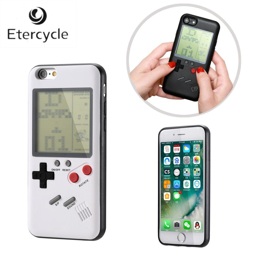 factory authentic 74255 9b541 For Apple iPhone 6 6s 7 8 6 Plus 6s Plus 7 Plus 8 iPhone X Retro Nintendo  Tetris Gameboy Phone Case