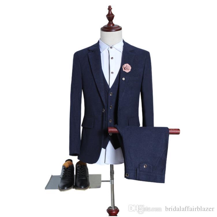 58bb532731c4 2019 2018 New Spring Men S Suit Wool Single Button Casual Suit Men ...