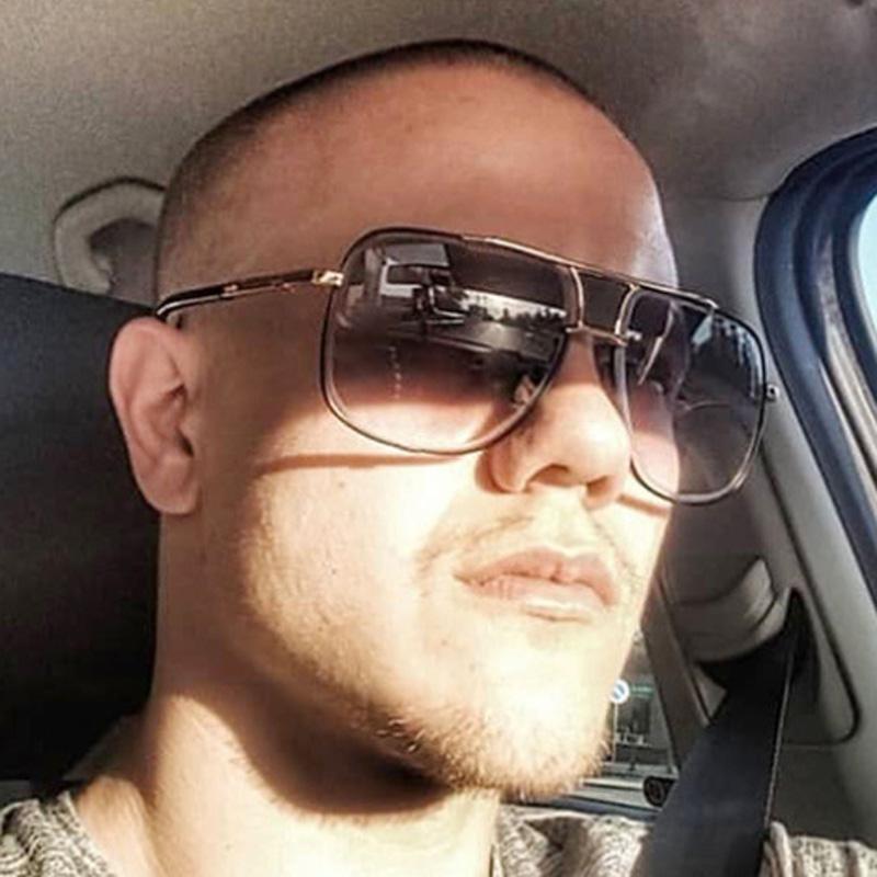 dcc510e314b590 Acheter MIZHO 2019 Nouveau Style Lunettes De Soleil Hommes Marque Designer  Superstar Lunettes Conduite Oculos De Sol Masculino Grand Maître Lunettes  De ...