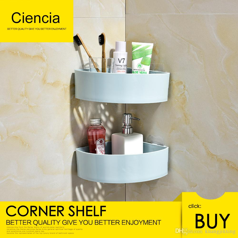 2018 :Corner Bathroom Shelf Adhesive Corner Shower Caddy Plastic ...