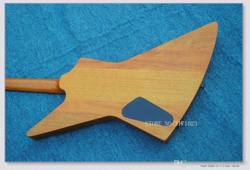 Chitarra elettrica di stile di alta qualità di colore marrone K OEM di legno Chitarre cinesi Top strumenti musicali