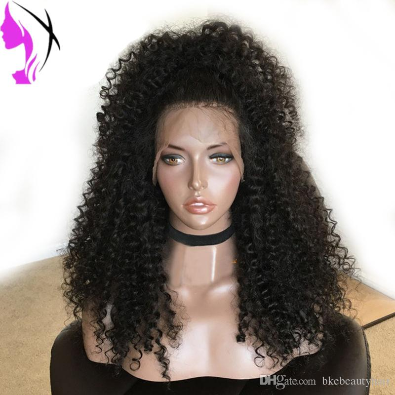 Full density kinky Curly Synthetic Lace Front Wig Heat Resistant Fiber For black Women black Grey White Blonde Brown Red Color afro wigs