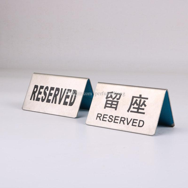 Stainless Steel Reserved Table Sign Reception Wedding Table Seating