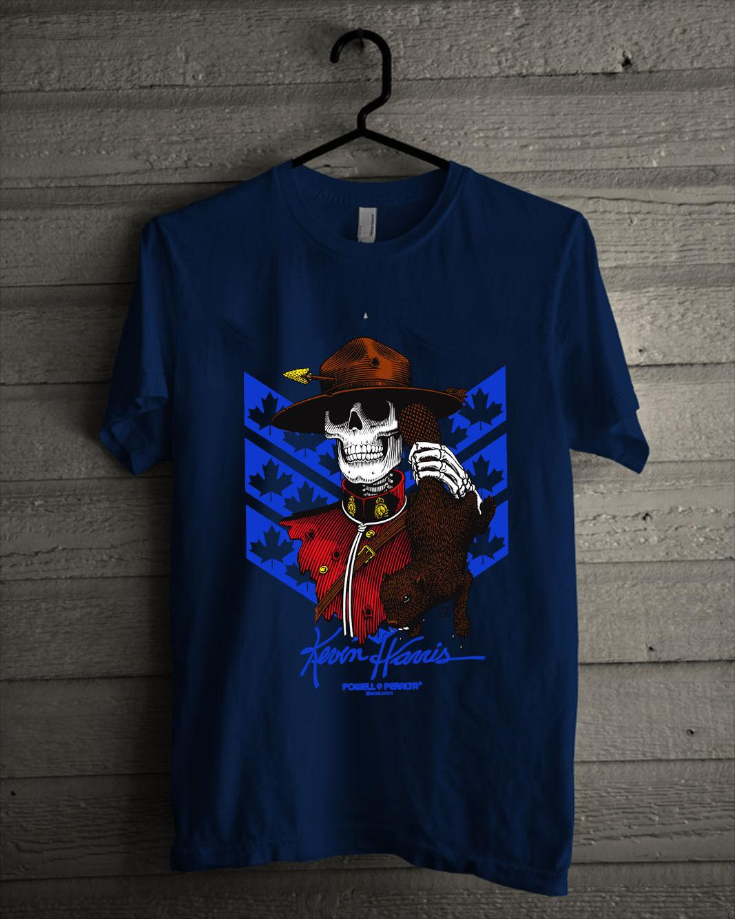 606056ba Powell Peralta Kevin Harris T Shirt Men'S All Size Blue T Shirt Mens 1  Custom Made Good Quality T Shirt Top Tee Tie Shirts Latest T Shirt Designs  From ...
