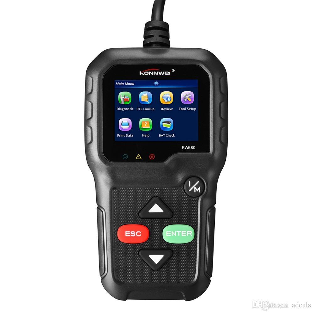 Obdii Automotive Code Reader Konnwei Kw680 Obd2 Car Diagnostic Scanner Full Obd2 Eobd Functions Car Scan Tool Vehicle Engine Fault Scanners