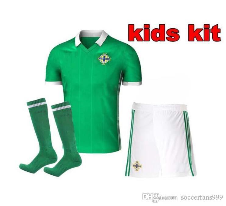 ... Kids Northern Ireland Soccer Jerseys 2018 World Cup Kids Kit socks c6fa883b3