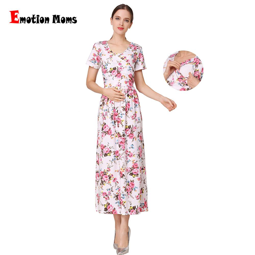 6fbcbb7e5399 2019 Emotion Moms New Fashion Floral Maternity Clothes For Pregnancy  Breastfeeding Dresses For Pregnant Women Maternity Nursing Dress From  Cassial, ...