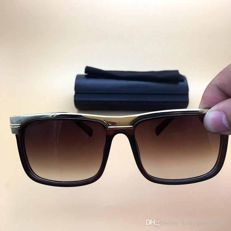 Großhandel Designer Marken Sonnenbrille Planken Brillen Brown Rahmen ...