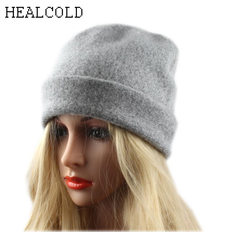 2018 Fashion Winter Hats For Women 100% Wool Skullies Hat Ladies Beanies  Casual Warm Knitted Cap Summer Hats Funny Hats From Shukui 3d49027ad849