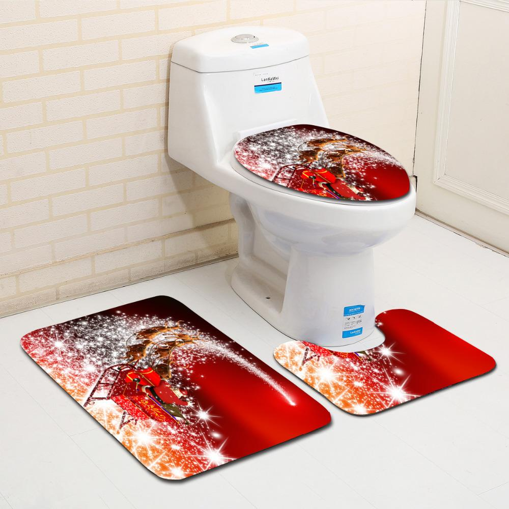 2018 Toilet Seat Cover Bathroom Set Anti Slip Bath Mats Washable Lid Accessories Wc From Hopestar168
