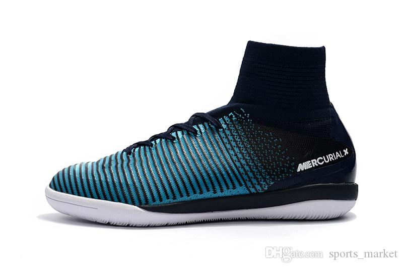 76f074ffca4d2f Soccer Cleats 2018 100% Original ICE Blue White Indoor Soccer Shoes  Mercurial Superfly V Neymar IC Football NZ 2019 From Sports_market, NZ $$ 54.71 | DHgate ...