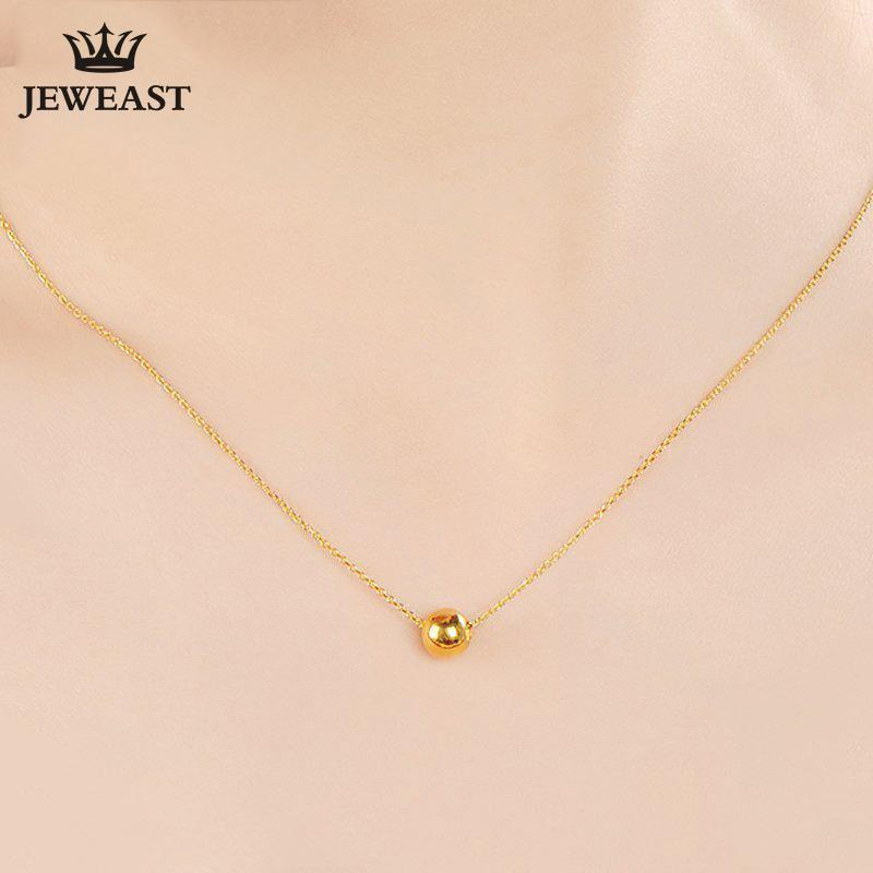 7146ff0d7b318 24K Pure Gold Necklace Real AU 999 Solid Gold Chain Beautiful Lucy Bead  Upscale Trendy Classic Fine Jewelry Hot Sell New 2018