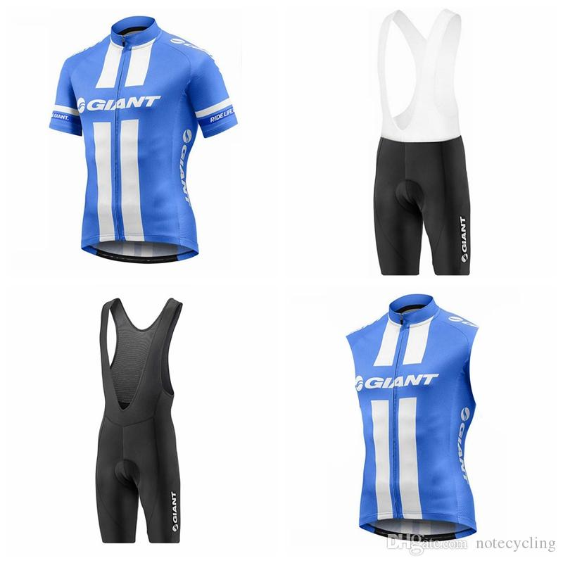 GIANT Cycling Short Sleeves Jersey Bib Shorts Sleeveless Vest Sets Hot Men S  Summer Riding Jersey Bike Ropa Ciclismo Fashion A41935 Cheap Jersey Cool ... b48b42175
