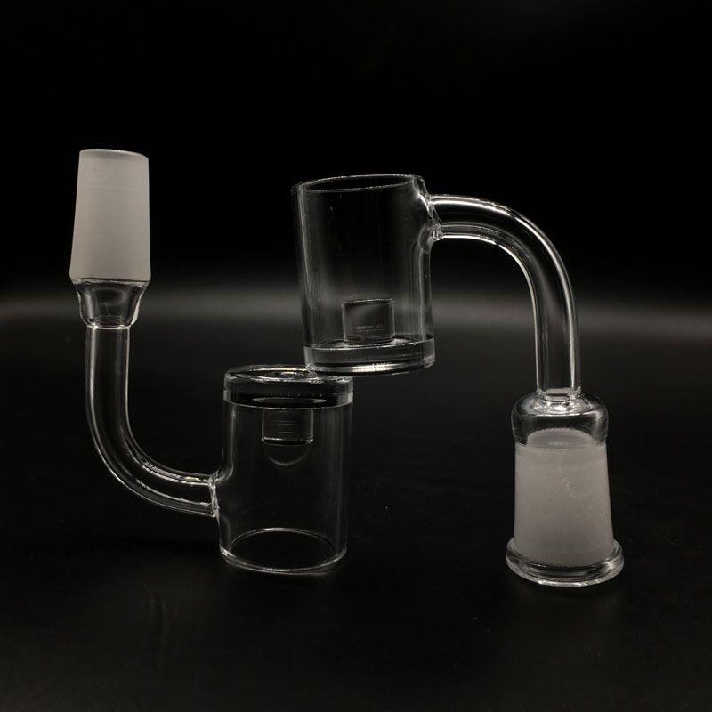 New 5mm Bottom Flat Top Quartz Core Reactor Banger 10mm 14mm 18mm Quartz Thermal Banger Nails For Glass Bongs Glass Water Pipes