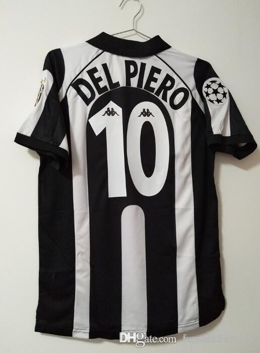c8a737a6b4b 2019 97 98 Retro Soccer Jersey Vintage Conte Inzaghi  10 Del Piero 1997  1998 Italia Calcio MAGLIA Deschamps Zidane Davids Football Shirts From ...