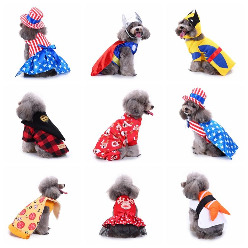 2018 halloween pet dog clothes festival costume christmas dog clothing coat jackets birthday party transform costumes pet apparel gga1046 from