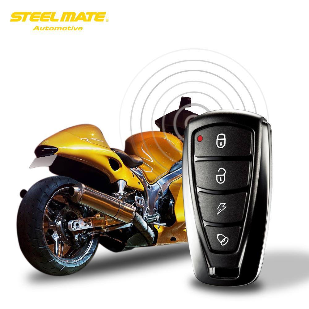 8b7f9998692 Compre Sistema De Seguridad Antirrobo De La Alarma De La Motocicleta De  Steelmate 986f 1 Way Motor De La Inmovilización Arranque Remoto Del Motor  Con Dos ...