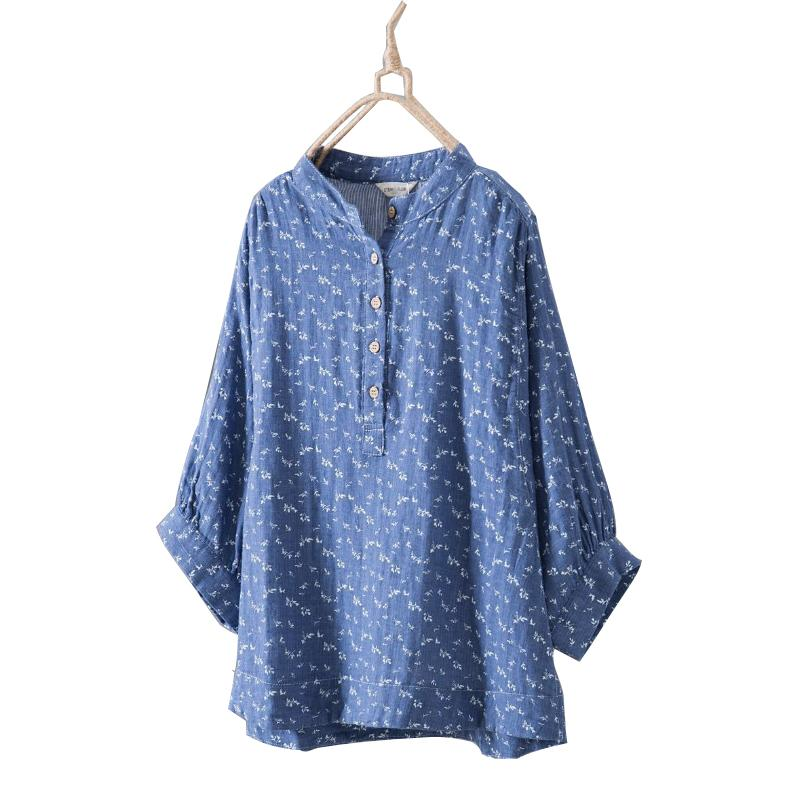 8d676c6ca16 2019 Batwing Sleeve Blouse Women Casual Plus Size Loose Shirt 2018 Spring  Summer Dot Flower Striped Cotton Pullover Blouse From Beke