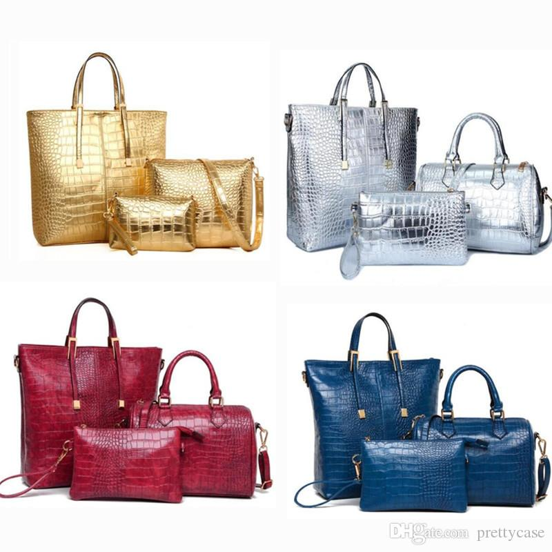 c2726b85f3 Set PU Leather Women Shoulder Bag Handbag And Purse Luxury Large Capacity Tote  Bag Ladies Boston Messenger Bag Clutch Bags Beach Bags From Prettycase
