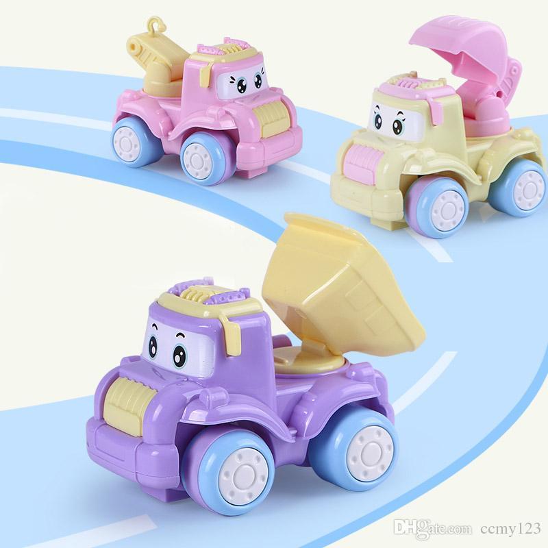 / Baby Toys Mini Construction Vehicle Cars- Montacargas, Bulldozer, Road Roller, Excavadora, Camión volquete, Tractor Toys para niño