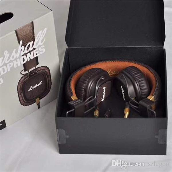 Best quality New Generation Brand Gaming Headset with Remote Mic Marshall Major II Black Headphones Marshall 2 Headphone