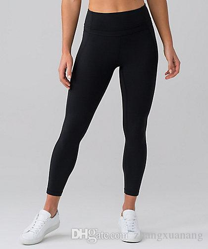5929dbc81659 2019 Non See 2018 New Throgh High Waist New Women Pant Yoga Pants Solid  Black Sports Gym Wear Leggings Elastic Fitness Lady Overall Full Tights  From ...