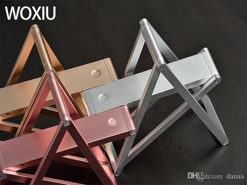 WOXIU LED Tischlampe Moderner Stil Änderungsmodell Hängende Wände Stellen Sie das Telefon leicht, um Außenbeleuchtung zu tragen Gold rosa silberne Farben