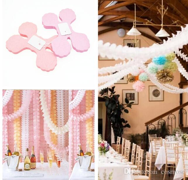 clover paper pull flowers clover garlands wedding room layout venue