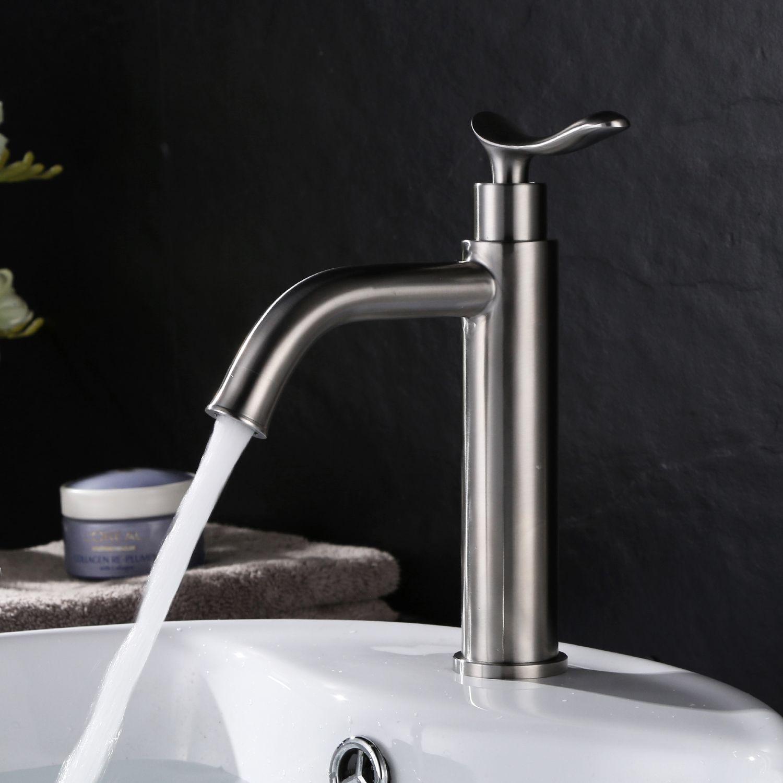 2018 304 Stainless Steel Basin Faucet Single Cold Bathroom Bathroom ...