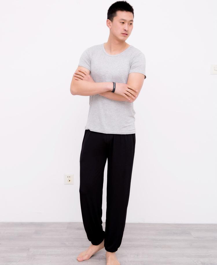 f4473b33ebc Plus Size Pajama Bottoms Bloomers 2018 Summer Autumn Men Women Loose  Sleepwear Cotton Modal Lounge Pants Hotsale UK 2019 From Netecool