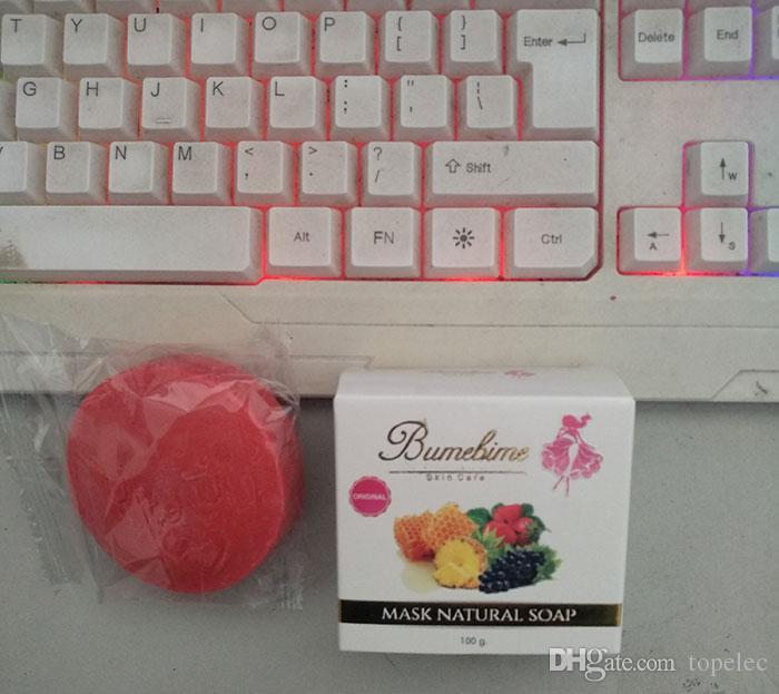 Bumebime Handwork Branqueamento Sabonete com Frutas Essencial Máscara Natural Sabonete De Óleo Branco brilhante shiping livre DHL