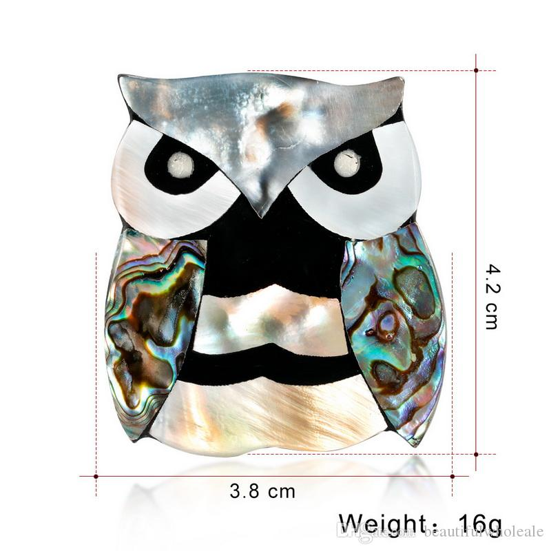 shell owl brooch Wholesale Fashion Colorful Mental Christmas Flower Brooch Crystal Women Girl Christmas Lucky owl Jewelry Gifts Brooch