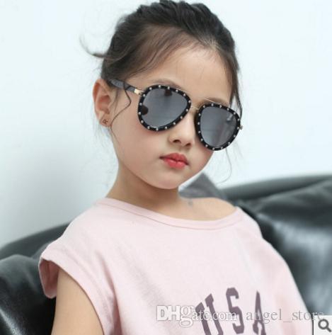 ba082eb6e8 Pilot Kids Glasses Fashion Children Sunglasses Boys Trendy Rivet Big Frame  Sun Glasses For Girls Summer Shades Baby Mirror Sunglasses Boots Sunglasses  From ...