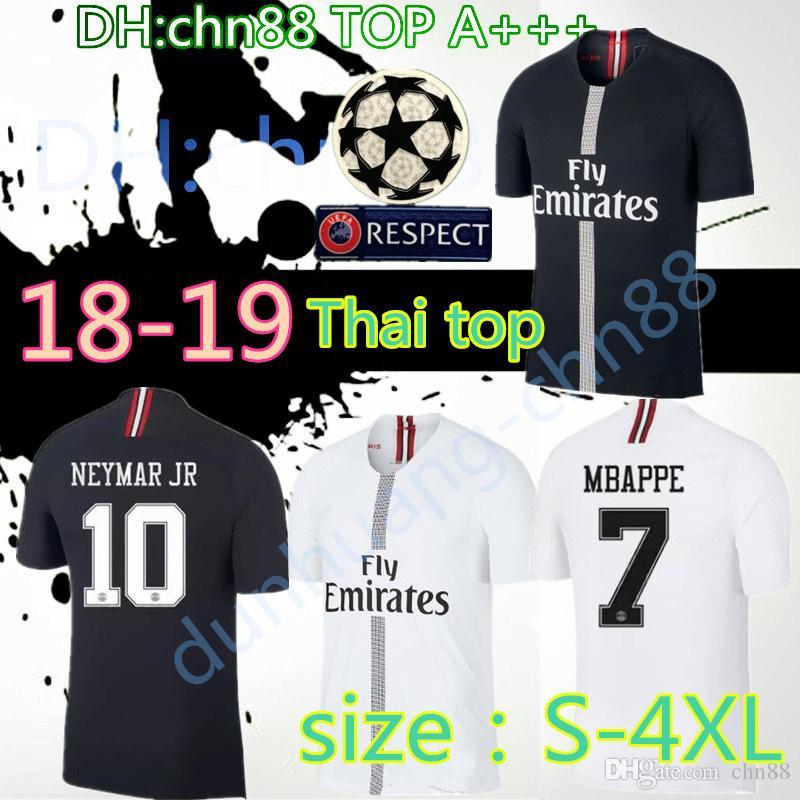 Larger Size XXL XXXL 4XL 2018 2019 Champion League Psg Jordam Soccer ... 7d381f7fc