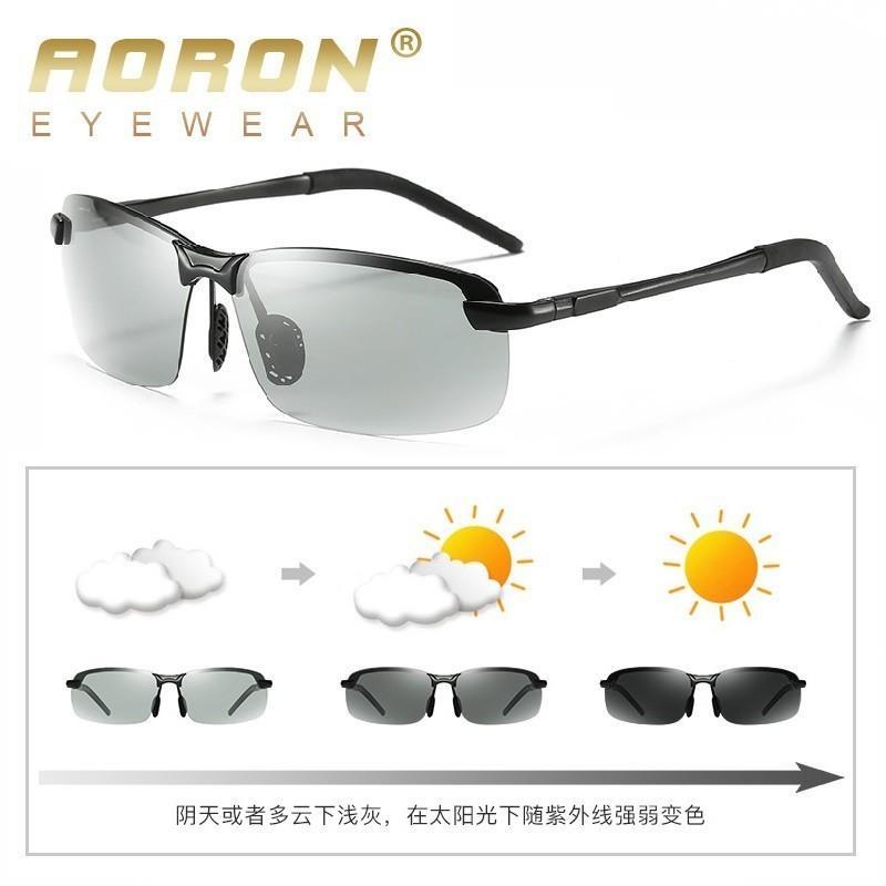 3bb553abd0 Compre Aoron De Conducción Polarizadas Gafas De Sol Fotocrómicas Hombres  Gafas De Camaleón Hombres Gafas De Sol Gafas De Conductor Gafas De Sol  Hombre A ...