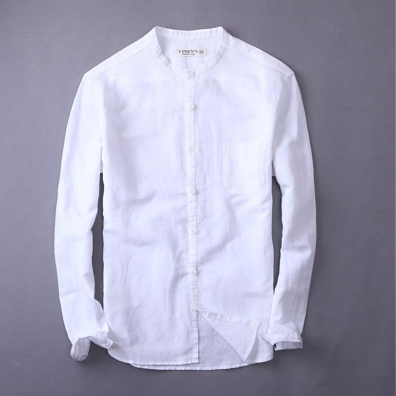 410cef901d85 2019 New High Quality Leisure Linen Shirts 2018 Summer Men Fashion Style  Brand Long Sleeved Shirts Men From Aprili