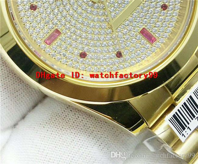 Luxury brand swiss Automatic Movement mens watch dial plate Full Diamond 18k gold plating Sapphire Crystal 316L Stainless Steel men's watch