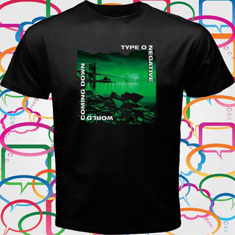 T-Shirt nera tipo O Negative World Coming Down T-Shirt S M L XL 2XL 3XL Cool T-shirt da uomo casual organza Unisex