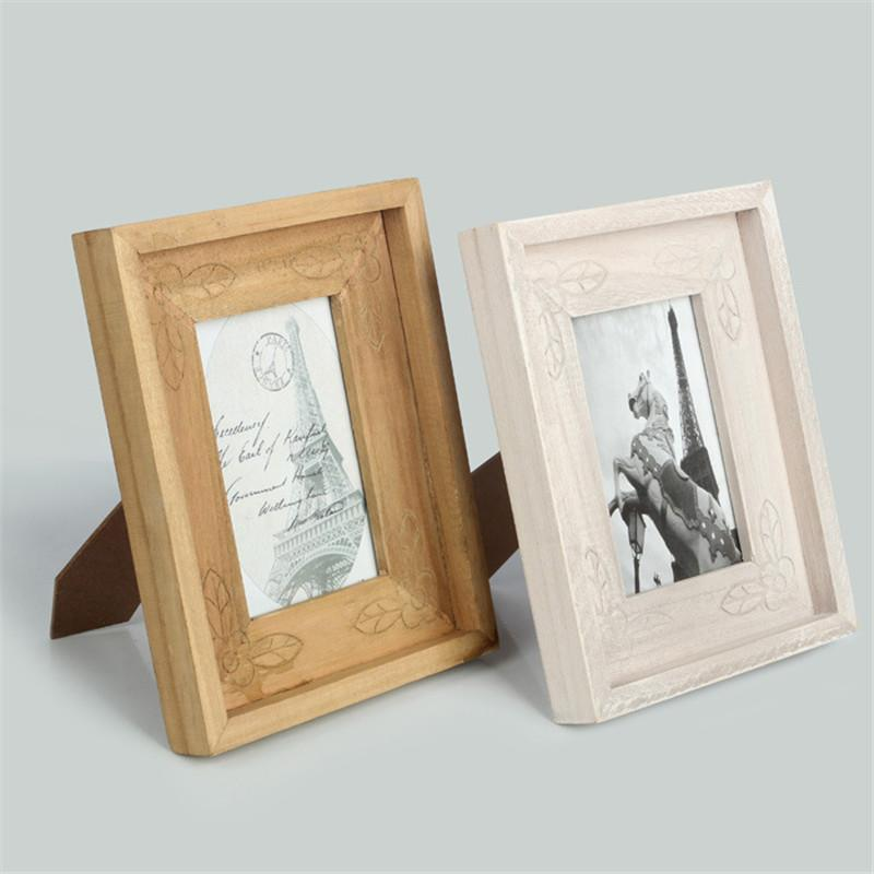 2018 6 Inch Vintage Wooden Photo Frame Retro Horse Eiffel Decorative ...