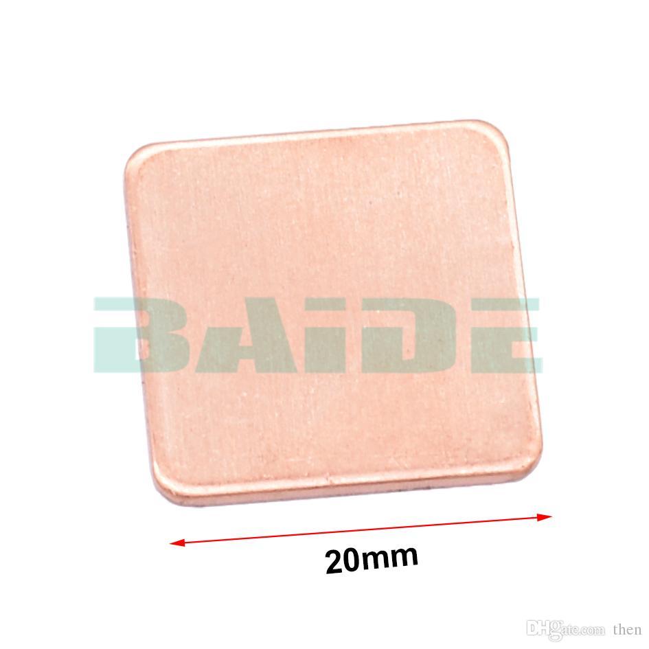 Copper Sheet Shim Piece Heat Sink 20 * 20mm 0.3/0.5/0.8/1.0/1.2 mm Thermal Pad For Laptop GPU CPU