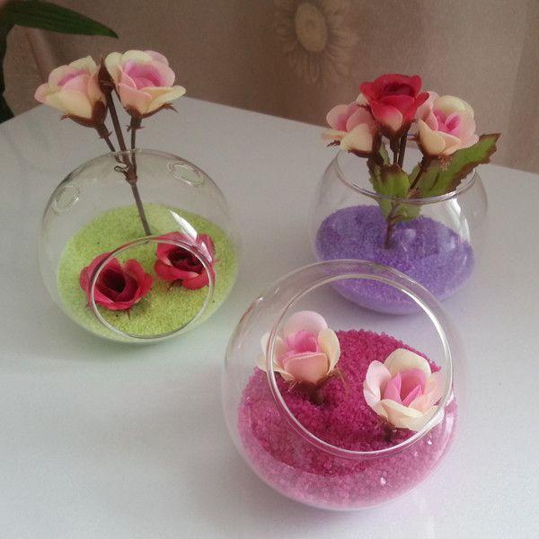 Diameter 8cm Pack Glass Terrarium Glass Globe Table Vase Creative